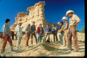... of Billy Crystal, Bruno Kirby and Daniel Stern in City Slickers (1991