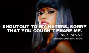 Nicki Minaj Quotes About Haters Nicki minaj qu.