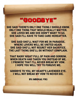 Goodbye love poems in pictures pics poems 2013
