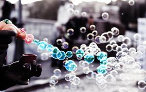 blue, bubbles, color, soap bubbles