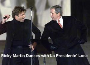 Ricky Martin Gives Bush The Finger During Concert