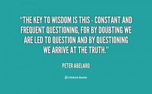 Peter Abelard Quotes