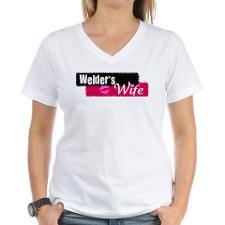 Welder's Wife Women's V-Neck T-Shirt for