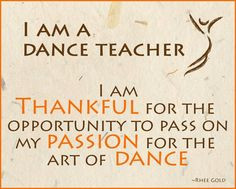 Dance teachers...