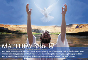 Bible Verses Holy Spirit Matthew 3:16-17 Jesus Baptized HD Wallpaper