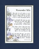 Memorial Gift, #96, Touching 8x10 Bereavement Poem, Double-matted in ...