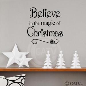 Amazon.com - Believe in the Magic of Christmas 12x12 vinyl wall ...