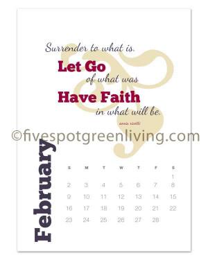 February Quotes For Calendars 2014 renew you desk calendar