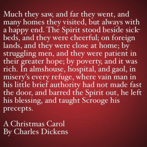 My Favorite Quotes from A Christmas Carol #32 - …and taught Scrooge ...
