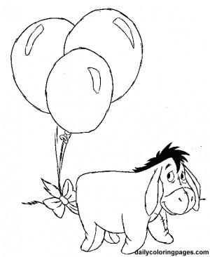 Eeyore Winnie The Pooh Coloring Pages