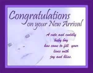 Congratulations on your New Arrival - Baby Boy