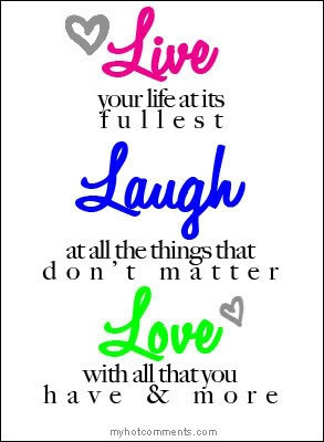 Live Laugh Love Quotes And Sayings ~ LARGE - Live well Laugh often ...