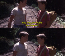 ... quote, river phoenix, screencap, stand by me, stephen king, the body