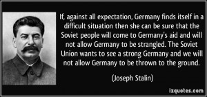 against all expectation, Germany finds itself in a difficult situation ...