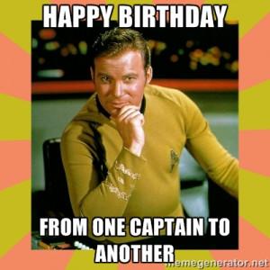 Captain Kirk Happy Birthday