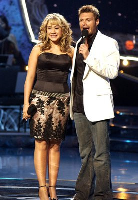 Diana DeGarmo and Ryan Seacrest at event of American Idol (2002)