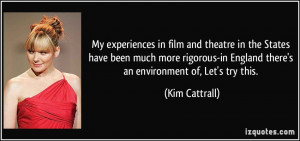 More Kim Cattrall Quotes