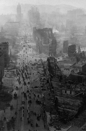 Market Street, San Francisco, after an earthquake, 1906 on imgfave