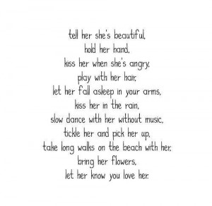 tell her she is beautiful regarding-him