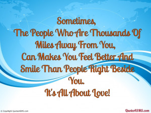 The People Who Are Thousands Of Miles Away From You...