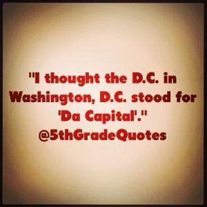 5th Grade Quotes #WashingtonDC