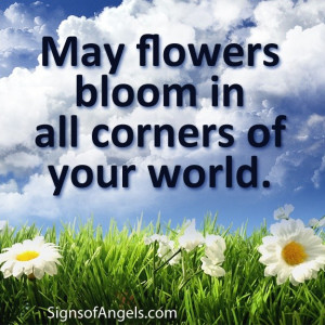 Daily inspirational quotes, sayings, flowers, bloom, your world