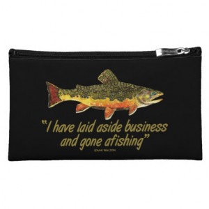 Izaak Walton Fishing Quote Cosmetic Bag