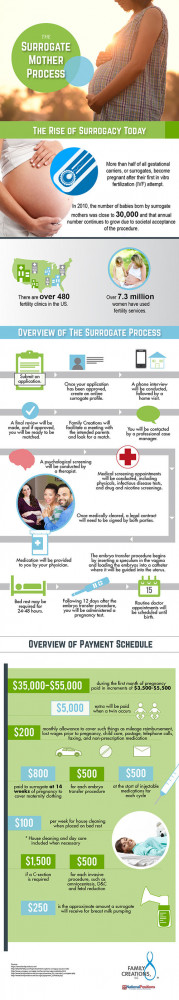 surrogacy medical family infographic