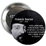 Philosopher Francis Bacon Button