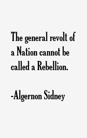 Algernon Sidney Quotes amp Sayings