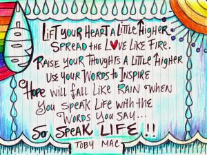 Speak Life Tobymac Speak life, toby mac
