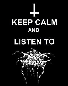 so I was just listening to a black metal song by this band called ...
