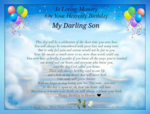 In Loving Memory Of My Son Birthday