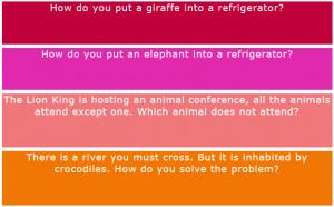 How do you put an elephant into a refrigerator?
