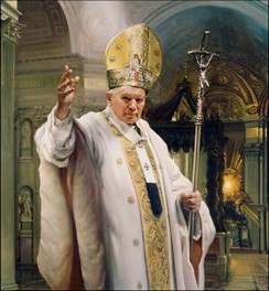 Above is a picture of JP2 in his papal robes.