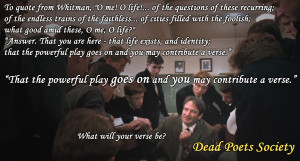 Dead Poets Society Quotes Very Dead poets society [1920 1036]