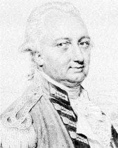Photograph:Charles Cornwallis, detail of pencil drawing by John Smart ...