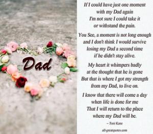In Loving Memory Dad Verses | In Loving Memory Dad - Memorial Poems ...