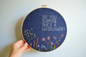 Do You Suppose She's A Wildflower Whimsical di BreezebotPunch, $45.00