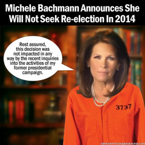 michele bachmann says she will not run for re election in 2014 michele ...