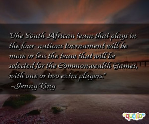 the south african team that plays in the four nations tournament will ...