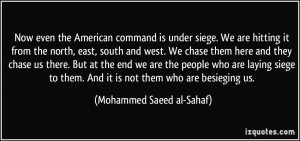 More Mohammed Saeed al-Sahaf Quotes