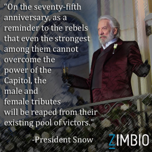 President Snow Catching Fire Quotes
