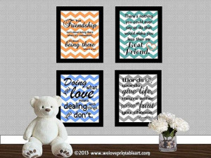 Christmas Gifts for Best Friend -- Here is a set of 4 printable signs ...