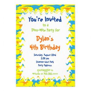zazzle.comFun Cool Dinosaur Birthday Party Invitations from Zazzle,