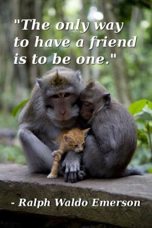 The only way to have a friend is to be one. - Ralph Waldo Emerson