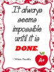 Inspirational Quotes Classroom Posters (8.5 x 11)