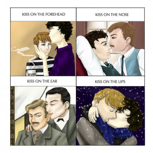 Cute Kiss Meme: Sherlock Style by honeko