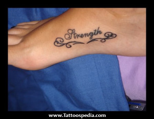 quotes about strength tattoos Strength Foot Tattoos 1