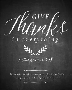 Thanksgiving Printable, Give Thanks in everything chalkboard art print ...